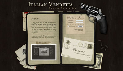Italian Vendetta 3.0 main dashboard