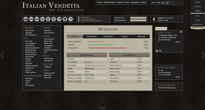 Italian Vendetta 3.0 dashboard adjusting