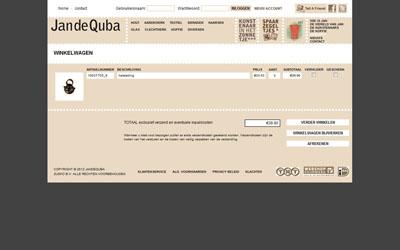 JandeQuba webshop payment